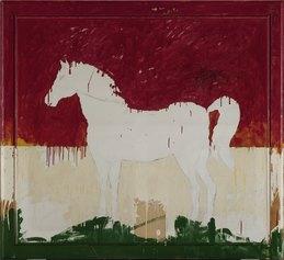Mario Schifano, Grande Quadro Equestre Italiano, 1978, Coll A.Grassi, ©Mario Schifano, by SIAE 2021, ph. S. Domingie