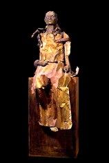 Summer Awakenink, 2010. Terracotta, cera, lamiera, ferro, legno. H 180 cm. Opera già in collezione al MacS
