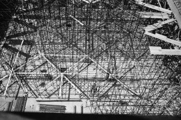 Roberto Gabetti: Torino. Rete dei ferri per il primo solaio della Borsa Valori, 1954-55