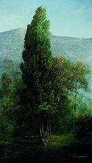 Vladimir Pajevic, La vecchia Bianchi, 70x50 cm, olio su tela