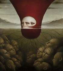Alessandro Sicioldr - The Goddess, 2017, Olio su tela, 100 x 90 cm