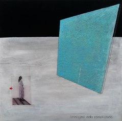 L'immagine della stimolazione, 2020, tecnica mista su tela, 50x50 cm