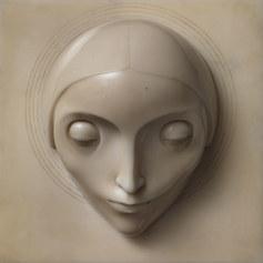 Adolfo Wildt: La concezione, 1921, Marmo bianco di Carrara, cm 26,5 x 27, Collezione Merlini
