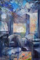 Manfredi Beninati - Senza titolo, 2019, olio su tela, cm 200x133