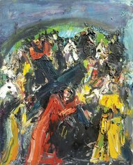 Bernard Damiano, Via Crucis (studio) 1994 Olio su tela cm 60x73.