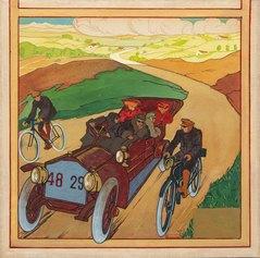 Umberto Boccioni: Automobile 48 29, 1907-1908. Tempera su cartoncino, 374 x 248 mm. Collezione privata