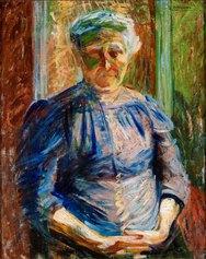 Umberto Boccioni: La madre, 1912. Olio su tela, 52 x 35 cm. Piacenza, Galleria d'arte moderna Ricci Oddi