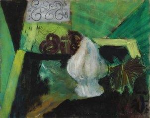 """Natura morta (1949) olio su tela cm 55,5 x 70 Firma in basso a destra """"cassinari"""" Sul retro: firma, data Courtesy Piacenza, Galleria Mazzoni."""