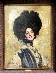 Cesare Tallone, Ritratto di Lina Cavalieri, 1905 © Archivio Galleria Campari