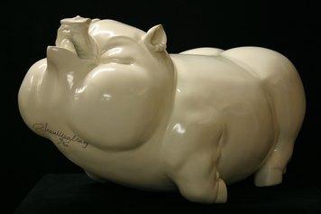Chen Wenling, Happy liife, scultura in fibra di vetro