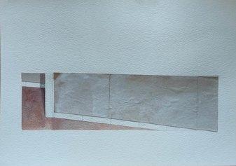 Damiano Azzizia, Frame, frammenti di carta e acrilico, 2019