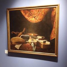 Evaristo Baschenis XVII secolo olio su tela 121x105cm Collezione Bassi Rathgeb