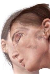 Federica Limongelli - Twins 5.0 - Digital painting - stampa fine art su carta di cotone Hahnemuhle  - cm. 100x70 - 2021