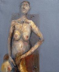 Gaetano Lamonaca - Attese 32x38 olio su tela