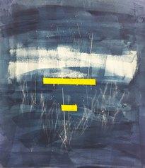 Virginia Carbonelli - giallo nel blu con schizzi d'acqua