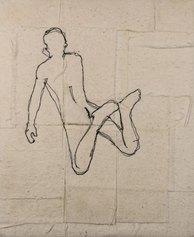 Gianfranco Basso, Jump, ricamo su tessuto 25x20 cm,  2019