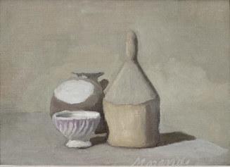 Giorgio Morandi, Natura morta, 1948, olio su tela, 32 x 44 cm, Collezione Merlini