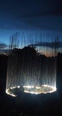 Giovanni Battimiello, Li cunti, ferro, luce led, supporto audio, 2021