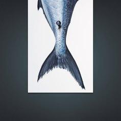 Ictys, dettaglio, 170x215cm, acrilico tela polittico - Lorenzo Marabini