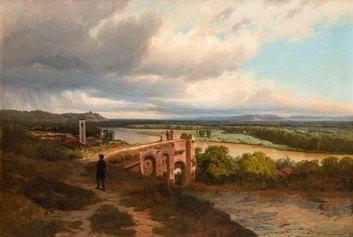 Pietro Sassi, il temporale si avanza sulla pianura di Alessandria (1871)