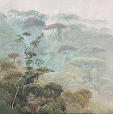 Jorge Cavelier, Luz de paz, Olio su lino, 76x76cm, 2020