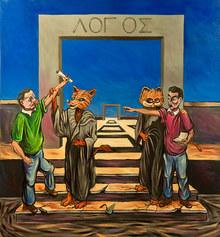 Il gatto e la volpe personale di pittura di Alessandro Licciardello - opere di di Alessandro Licciardello