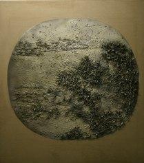 Ma Han, Today's landscape, tecnioca mista su tela, cm. 160 x 180