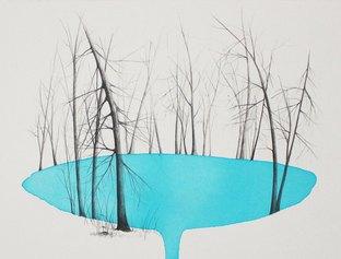Marika Vicari, Experiencing the world, dalla serie Wanderlast, 2020, grafite e acquerello su carta cotone, cm 31x41