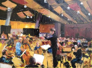 Mario Ferrante, The places of time, olio su tela cm 60x80, courtesy Galleria Edarcom Europa