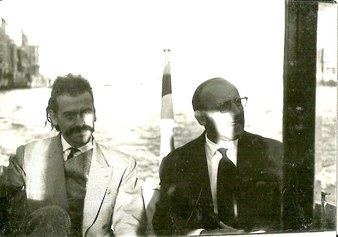 Mathieu e Pagnani a Venezia 1960 (Archivio Ghigi-Pagnani)