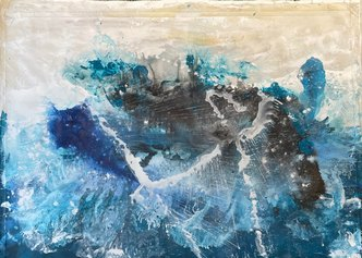 Matteo Must, Atlantide, 118x160 cm, spatolato su tela, 2021
