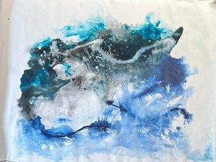 Matteo Must, Calypso, 120x160 cm, spatolato su tela, 2021