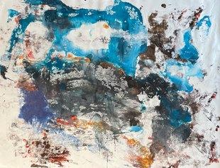 Matteo Must, Eolo, 118x160 cm, spatolato su tela, 2021