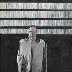 Michelangelo-Pistoletto,-L'uomo-nero,-1959,-olio-su-tela,-120x120,5