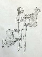Pierluca Cetera, I fattori, olio su tela, 2021