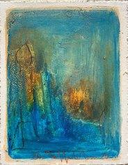 Raffaele Rossi, Cielo, 2020 - tecnica mista su tavola, cm14x11x4