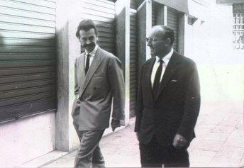 Roberto Pagnani e George Mathieu - anni '50 (Archivio Ghigi-Pagnani)