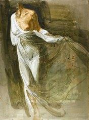 Safet Zec - Figura di donna in bianco