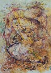 Sebastiano Sanguigni - Figura nello spazio - olio su tela cm 100x70