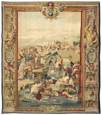 Manifattura Gobelins, Battaglia di Ponte Milvio, Parigi, Mobilier National, (inv. GMTT 173/9),1683 c., cm 490 x 435.