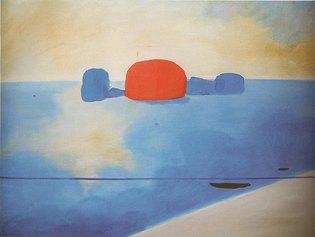 Virgilio Guidi, Marina zenitale, 1951, olio su tela, 90x120cm