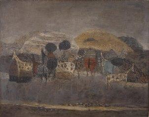 Zoran Music, Motivo dalmata, 1951, olio su tela, 116x148cm